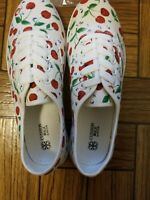 Mary Engelbreit Style Cherry Tennis Shoes Size 8 NEW