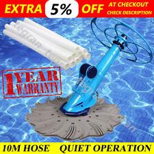 Swimming Pool Cleaner Automatic Vacuum Floor Auto Climb Below Ground 10m Hose