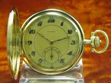 Longines 14kt 585 Gold Savonette Sprungdeckel Taschenuhr von ca. 1929