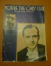 You're The Only Star (In My Blue Heaven), Enoch Light photo, vintage sheet music