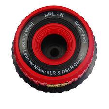 Holga Red Pinhole Lens for Nikon D7100 D5200 D600 D3200 D800 D5100 D7000 D3100