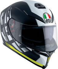 CASCO MOTO AGV INTEGRALE FIBRA K5 DARKSTORM NERO GIALLO TAGLIA S