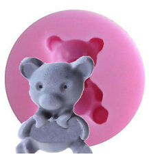 Teddy Bear with Bow Mini Silicone Mold for Fondant, Gum Paste, Chocolate, Craft