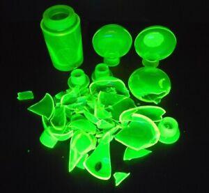 Black Light GLASS - URANIUM VASELINE - Breakage and Mismatched Pieces OVER 4 Lbs
