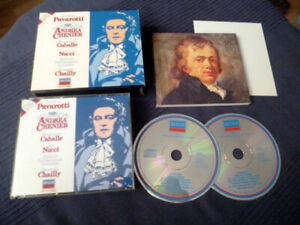 2CD Pavarotti ANDREA CHENIER Montserrat Caballé Giordano Riccardo Chailly DECCA
