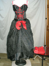 Victorian Saloon Dress Western Dance Hall Women's Costume Civil War