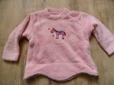 JAKOO schöner Kuschelpullover rosa Pferd Gr. 92/98 TOP ST817