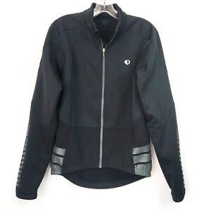Pearl Izumi Mens Medium Jersey Elite Thermal Cycling Black Long Sleeve Full Zip