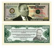 "Twin Pack-  (2) - Dr King ""Million Dollar"" Commemorative  Novelty Bills"