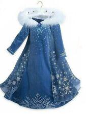 Girls Frozen Princess Dazzling Halloween Costume/Cosplay Long Dress Hot! Bargain