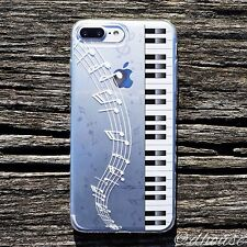 MADE IN JAPAN Soft Clear TPU Case Piano Music for iPhone 7 Plus