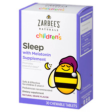 ZARBEE'S - Children's Sleep with Melatonin Supplement - 30 Chewable Tablets