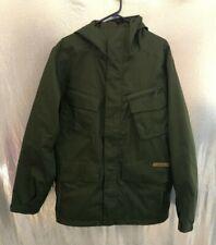 Burton Dryride Mens Sz L Army Green Mesh Lined Snowboarding Traction Jacket