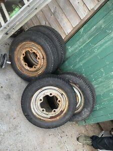 """Vw Camper 14"""" Steel Wheel Wide 5 X 205 Early Bay X4"""