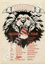 Nazareth Rampant Town Hall, Birmingham MM4 LP/Tour Advert 1974