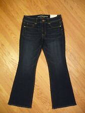 Womens American Eagle Kick Boot Stretch Jeans 12 Short Dark