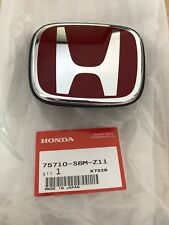 GENUINE JDM 05-06 ACURA RSX FRONT RED EMBLEM NEW HONDA GENUINE OEM 75710-S6M-Z11