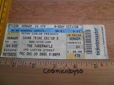 STS9 Sound Tribe Sector Nine 9 2005 der Tabernakel Konzert Ticket Original