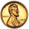 1959 GEM BU PROOF Lincoln Memorial BRILLIANT UNCIRCULATED PENNY US COIN PF