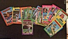 1975 TOPPS BASEBALL LOT - 41 CARDS/MINOR STARS - GD - NM CONDITION