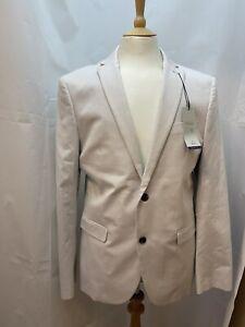 Next - Mens Slim Fit Pale Light Grey Suit Jacket - 42R - BNWT