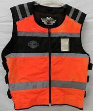 Mens Harley Davidson Safety Orange Vest Size L/XL