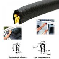"Car Auto Edge Trim Door Molding Seal Black Rubber Flexible U Shape 0.178/"" 5 Ft"