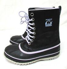Sorel women's size 7 waterproof black boots wool inserts 1964 premium