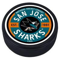 "San Jose Sharks gear Design 3D Textured ""Raised Letters"" Hockey Puck ""Est 1991"""