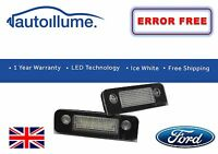 Ford Fiesta Mk6 ST ZETEC S ZS LED Number Plate Light Units