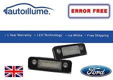 Ford Fiesta Mk6 ST ZETEC S ZS LED Number Plate Light Units