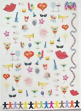 2 x A4 Party/Celebrations Patterned Vellum NEW