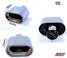 SPORT CHROME UNIVERSAL EXHAUST TAIL TRIM TIP PIPE MUFFLER NEW 366A