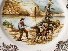 VINTAGE DA COLLEZIONE Display PIASTRA Gainsborough Cowboy Tirare riluttanti ASINO