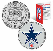 Dallas Cowboys Nfl Licensed John F. Kennedy Half Dollar! Coa & Display Stand!