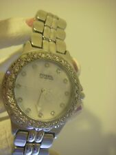 Fossil Blue Stainless steel water resistant bling watch glow in the dark dials