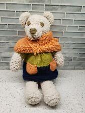 Vintage Hand Made Teddy Bear Folk Art Country Adorable