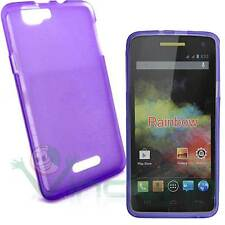 Pellicola+Custodia TPU Flexy VIOLA semi trasparente per Wiko Rainbow cover case