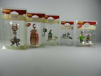 Lot 5 Lemax Christmas Figurine Sets Accessories Village Holiday Santa Reindeer