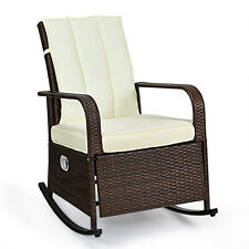 Indoor& Outdoor Reclining Chair Patio Porch Garden Lawn Wicker Chair Rattan Sofa