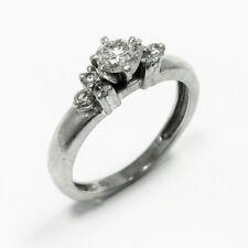 Platinum 7 Stone Solitaire Diamond Engagement Anniversary Band Ring Size 5.5