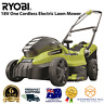 Ryobi 18V One Cordless Electric Lawn Mower 4.0ah Lithium Battery Charger Kit-NEW