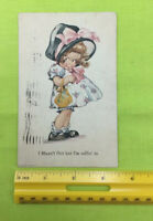 'Charles Twelvetrees' Vintage Postcard-Girl Flirting In Bonnet, Posted From 1922