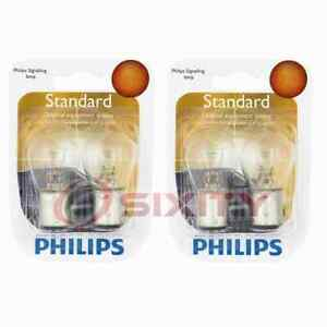 2 pc Philips Rear Turn Signal Light Bulbs for Dodge Aspen B100 B150 B200 pd