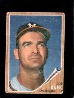 1962 TOPPS #458 BOB BUHL FAIR CUBS (W/CAP)  *XR21965