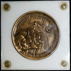 1959 Medallic Art Co Founding of Santa Fe Commemorative Bronze Medal 2 1/2
