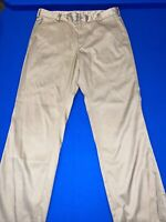 Nike Golf Men's Dri Fit Golf Pants Flat Front Tan 36 X 32