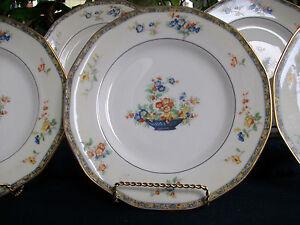 HAVILAND LIMOGES MONTREUX (c.1921+) DINNER PLATE(s)- TWO TONE! EXCELLENT! GILT!