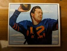 Sid Luckman autographed #27 1950 Bowman football card