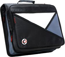 Case It Universal 2 Inch 3 Ring Zipper Binder Holds 13 Inch Laptop Black